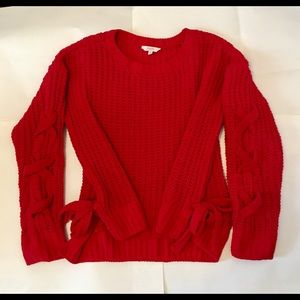 Ladie's Red Candies Long Sleeve Sweater w/ Bows